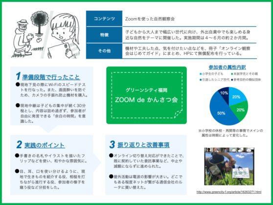 グリーンシティ福岡によるZOOM de かんさつ会 というオンラインでの取り組みについての紹介